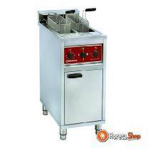 Electrische friteuse 2x 10 lit. op kast